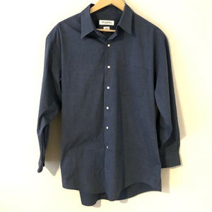 Brooks Brothers Stretch Mens Blue Button Down Lg